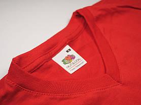 Мужская футболка с V-образным вырезом 61-066-0 Красный, S, фото 3