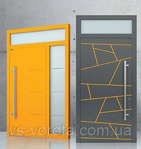 Двери алюминиевые входные WISNIOWSKI модель CREO 301 - размер 1200Х2300 мм
