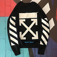 Свитшот Off-White Black/white. Унисекс. Материалы: 80% Хлопок, 20% Эластан, фото 1