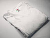 Мужская футболка с V-образным вырезом 61-066-0 Белый, XL