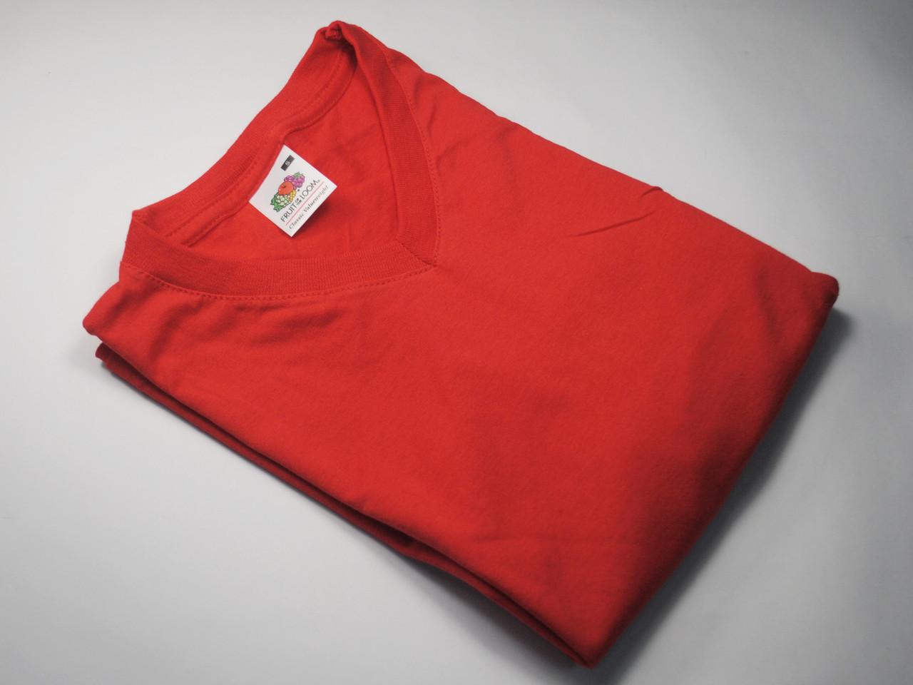 Мужская футболка с V-образным вырезом 61-066-0 Красный, XL