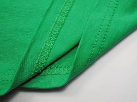 Мужская футболка с V-образным вырезом 61-066-0 Ярко-зелёный, 3XL, фото 3