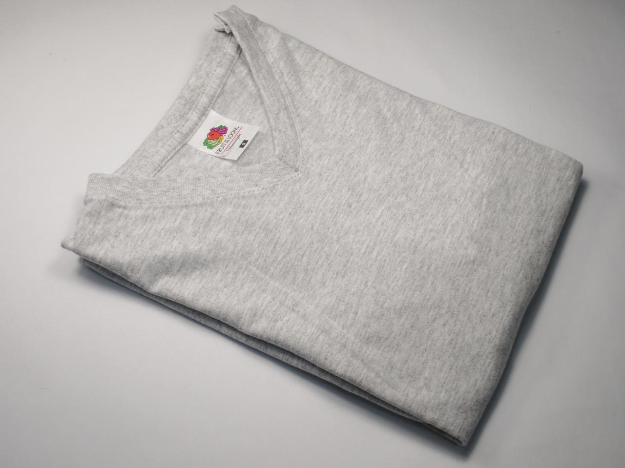 Мужская футболка с V-образным вырезом 61-066-0 Серо-лиловый, M