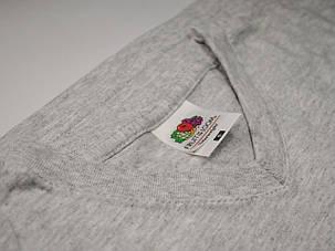 Мужская футболка с V-образным вырезом 61-066-0 Серо-лиловый, M, фото 2