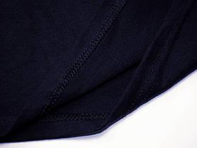 Мужская футболка с V-образным вырезом 61-066-0 Глубоко тёмно-синий, XL, фото 2