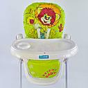 Детский стульчик для кормления JOY Львенок цвет салатовый, фото 8