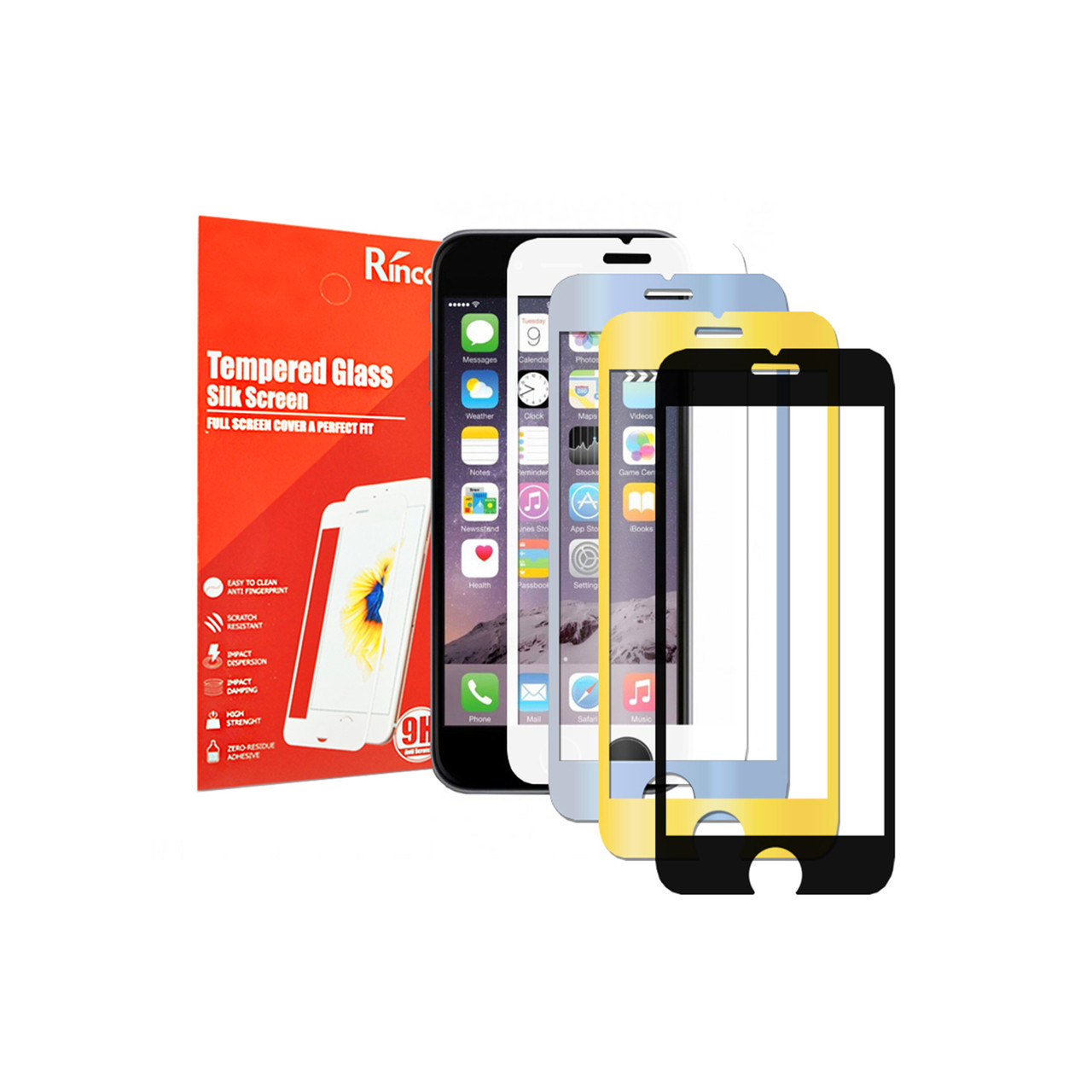 Стекло Silk Screen iPhone 6/6S black