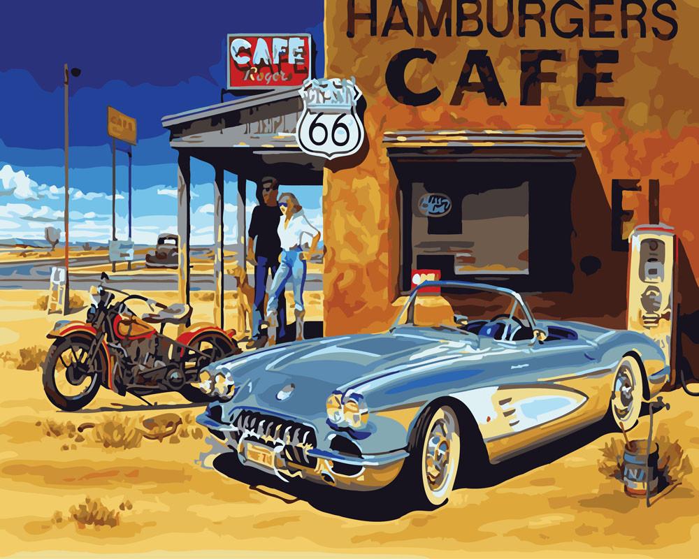 Картина по номерам Техаское кафе, 40x50 см., Rainbow art