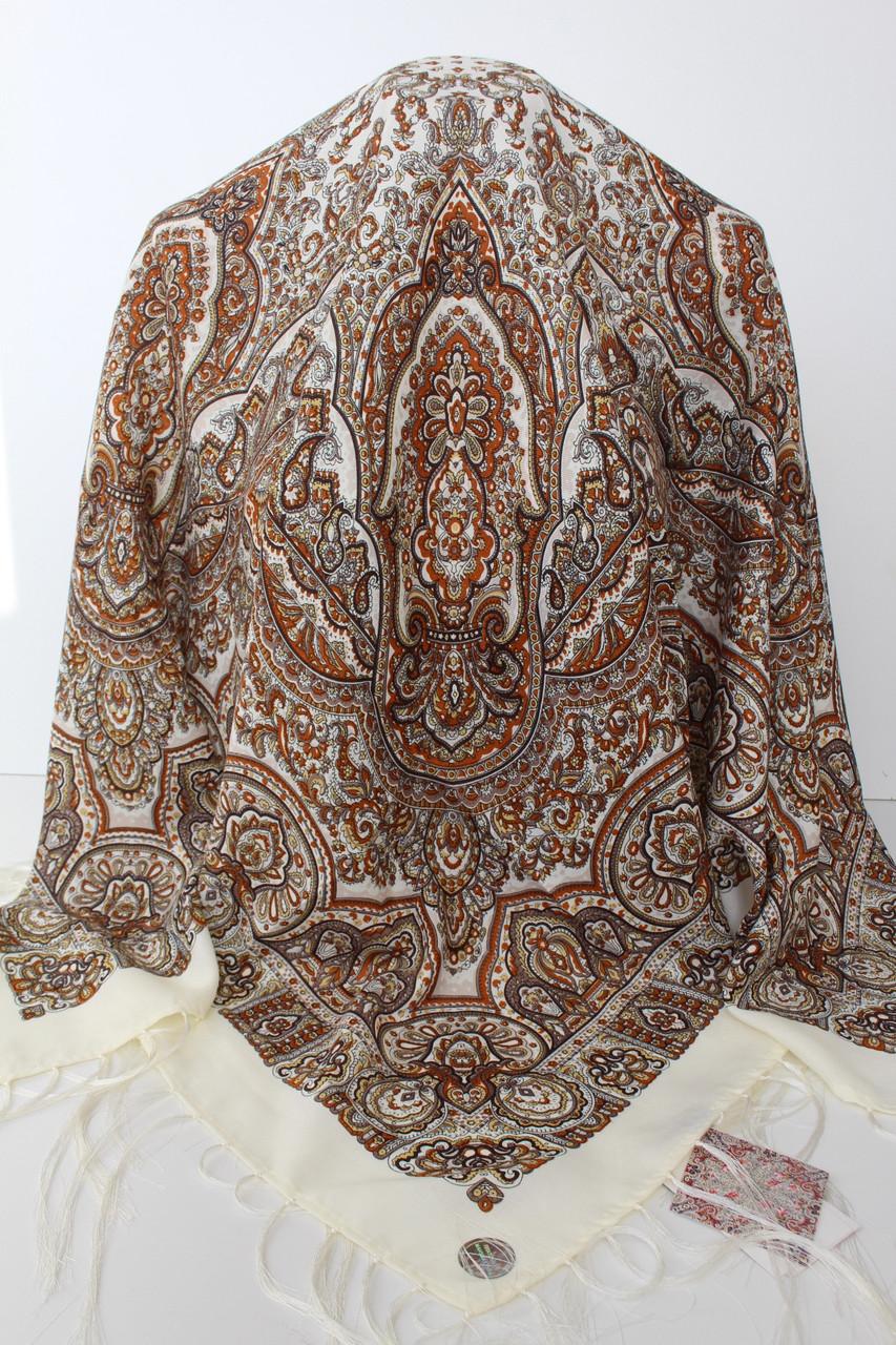 Платок шерстяной павлопосадский (120см) 607023