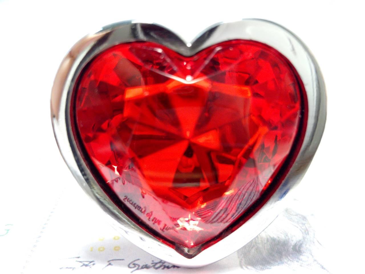 Анальная пробка Like Heart Love   + черный бархатный мешочек