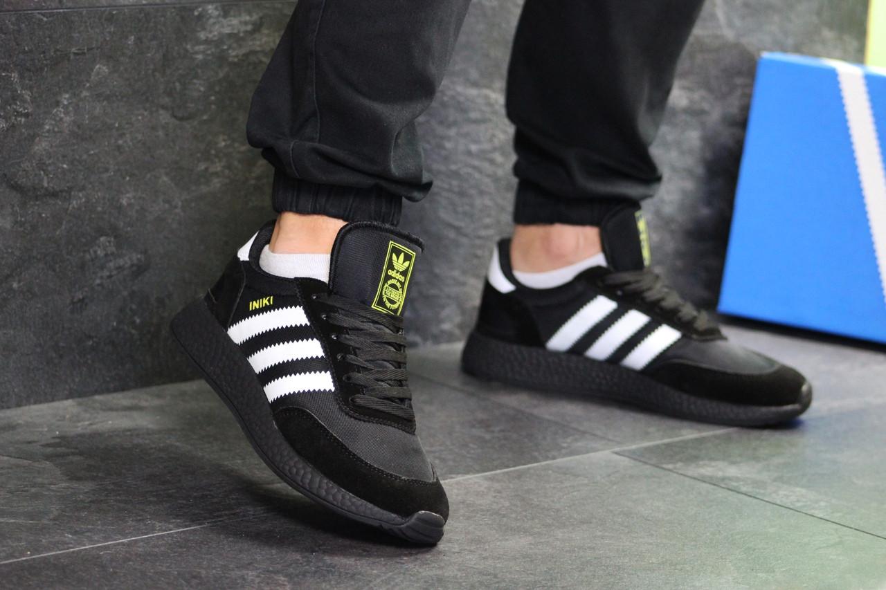 4a2240fc8fba9f Мужские кроссовки Adidas Iniki, черные / чоловічі кросівки адідас (Топ  реплика ААА+)