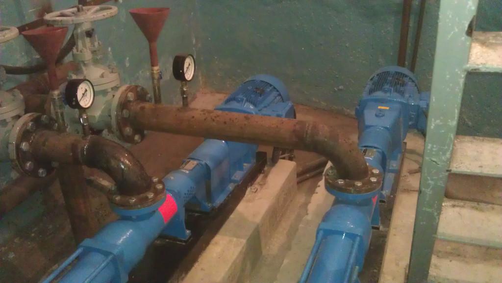 Напорная канализационна станция на базе двух винтовых насосов Johstadt Pump (Германия)