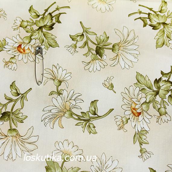 44013 Ромашка. Ткань квилтинговая. 100 % хлопок. Ткани для рукоделия, шитья, пэчворка и декорирования.