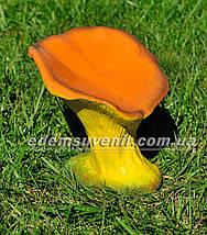 Садовая фигура Гриб лисичка, Синичка грибочек и Ежик на поляне, фото 3