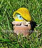 Садовая фигура Гриб лисичка, Синичка грибочек и Ежик на поляне, фото 2