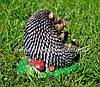 Садовая фигура Гриб лисичка, Синичка грибочек и Ежик на поляне, фото 4