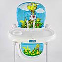 Детский стульчик для кормления JOY Жираф цвет голубой, фото 2
