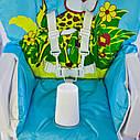 Детский стульчик для кормления JOY Жираф цвет голубой, фото 5