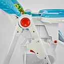 Детский стульчик для кормления JOY Жираф цвет голубой, фото 8