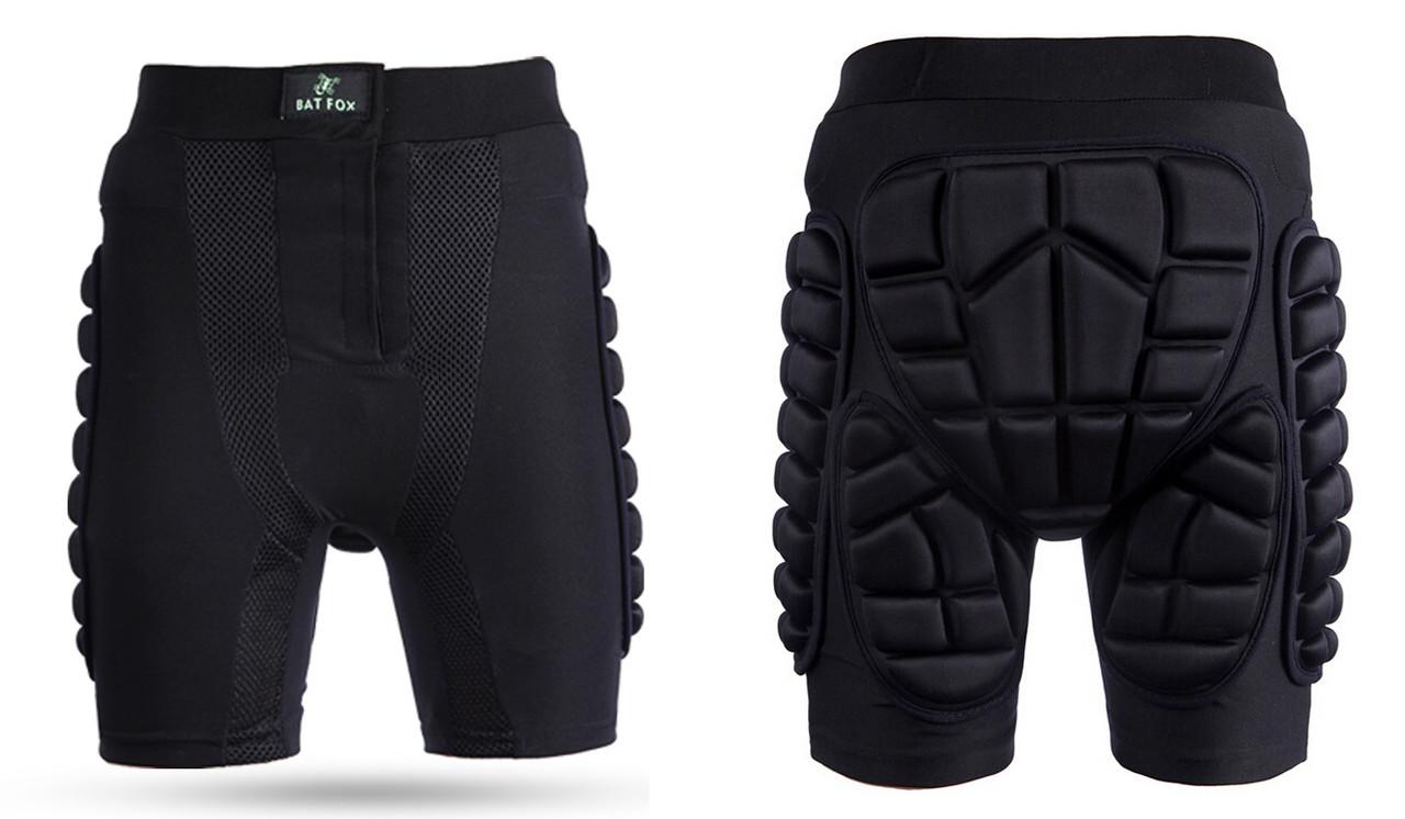 """Защитные трусы / шорты """"BATFOX"""" для травмоопасного зимнего спорта мото вело для ВЗРОСЛЫХ (только 2XL + 3 XL)"""