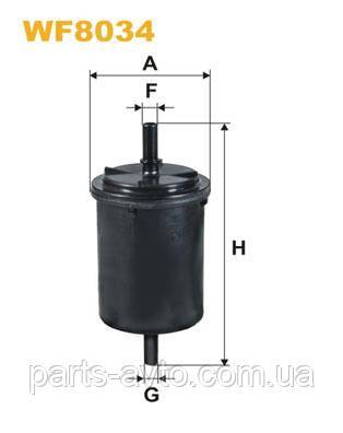 Фильтр топливный MPI Dacia  Logan, MCV, Sandero. WIX  WF8034 , 6001546326