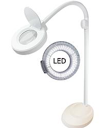 Лампа-лупа напольная с Лед подсветкой