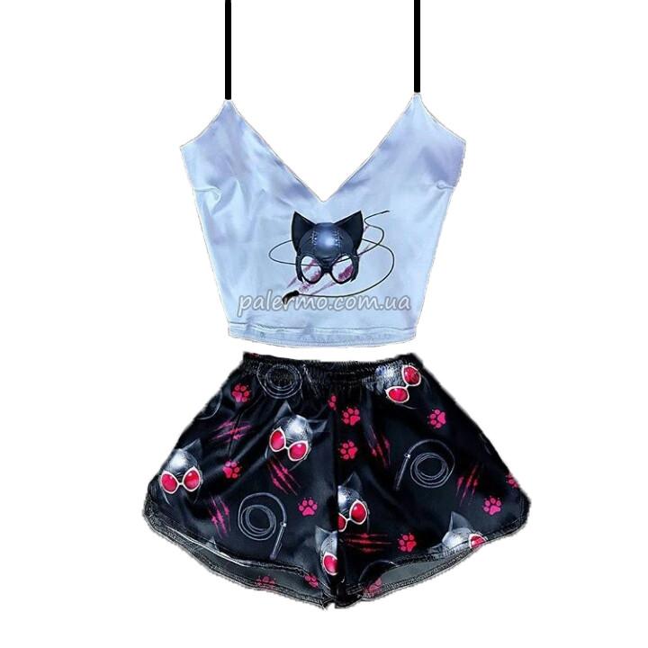 Пижама женская Cat Woman шелковая