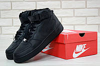 Кроссовки Nike Air Force 1 High Black, фото 1
