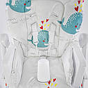 Детский стульчик для кормления JOY Рыбки цвет белый, фото 8