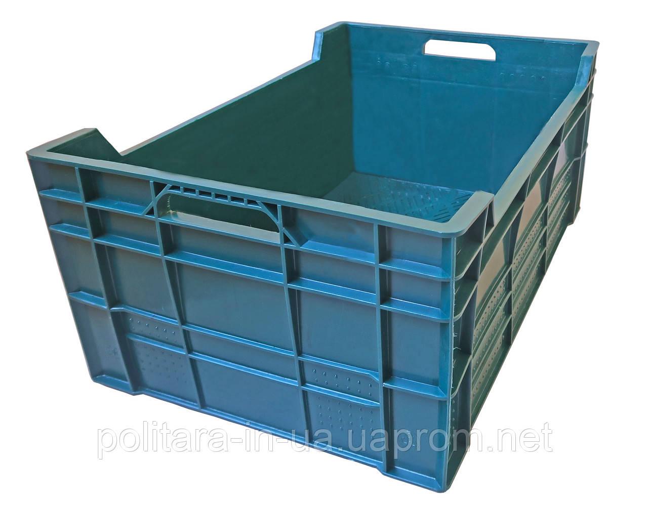 Ящик пластиковый пищевой  600x400x260 сплошной