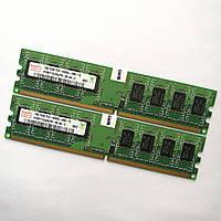 Комплект оперативной памяти Hynix DDR2 2Gb (1Gb+1Gb) 800MHz PC2 6400U CL6 (HMP112U64CP8-S6 AB-C) Б/У, фото 1