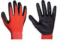 Перчатки рабочие стрейчевые покрытые гладким нитрилом (черный)