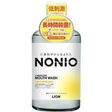 """Ополіскувач для порожнини рота з освіжаючим ефектом, легкий аромат м'яти і трав LION """"Nonio"""" (259398)"""