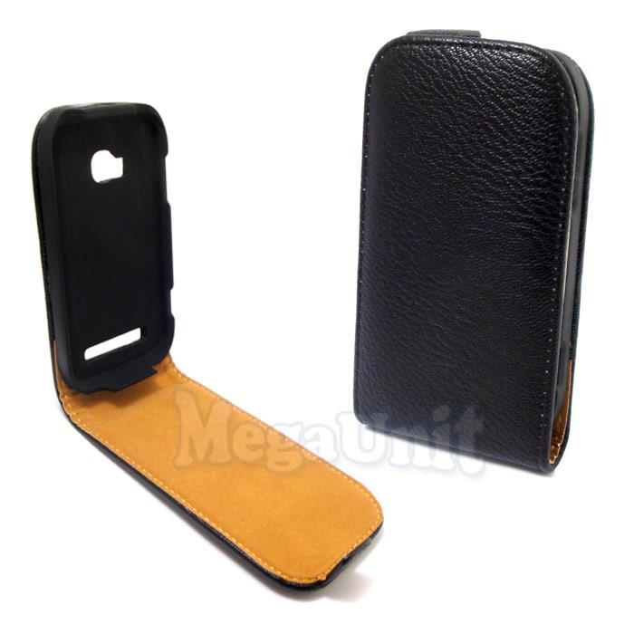 Откидной чехол-флип для Nokia 710 Lumia Черный