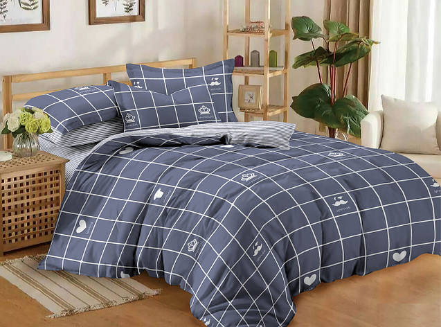 Полуторный комплект постельного белья 150*220 сатин (11185) TM КРИСПОЛ Украина, фото 2