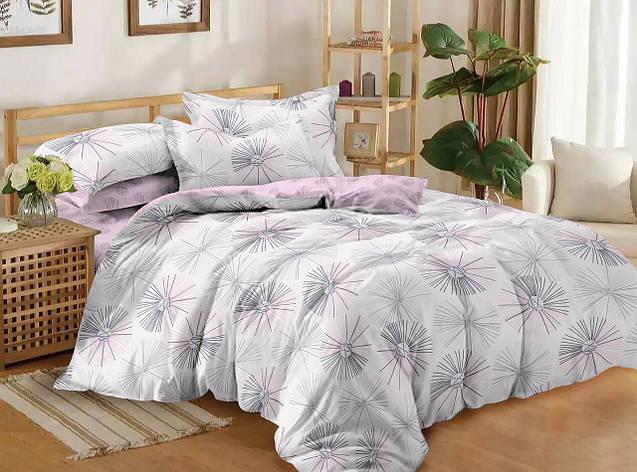 Полуторный комплект постельного белья 150*220 сатин (11186) TM КРИСПОЛ Украина, фото 2