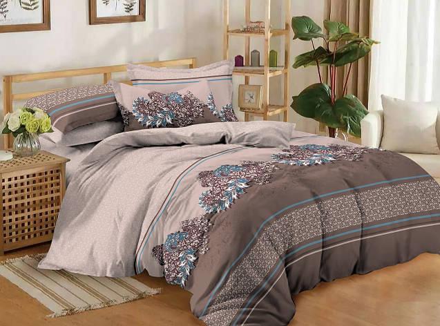 Полуторный комплект постельного белья 150*220 сатин (11187) TM КРИСПОЛ Украина, фото 2