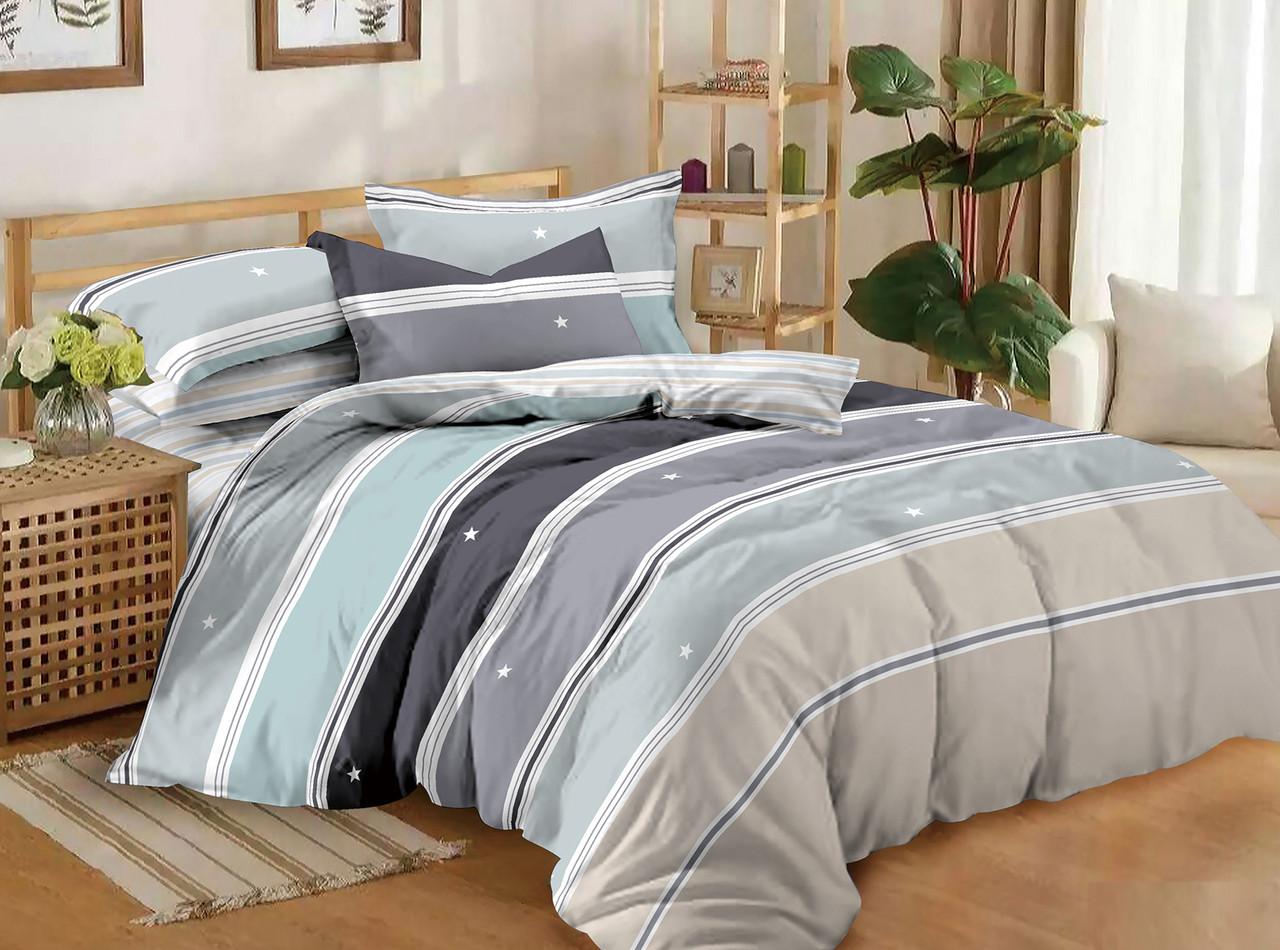 Двуспальный комплект постельного белья евро 200*220 сатин (11194) TM КРИСПОЛ Украина