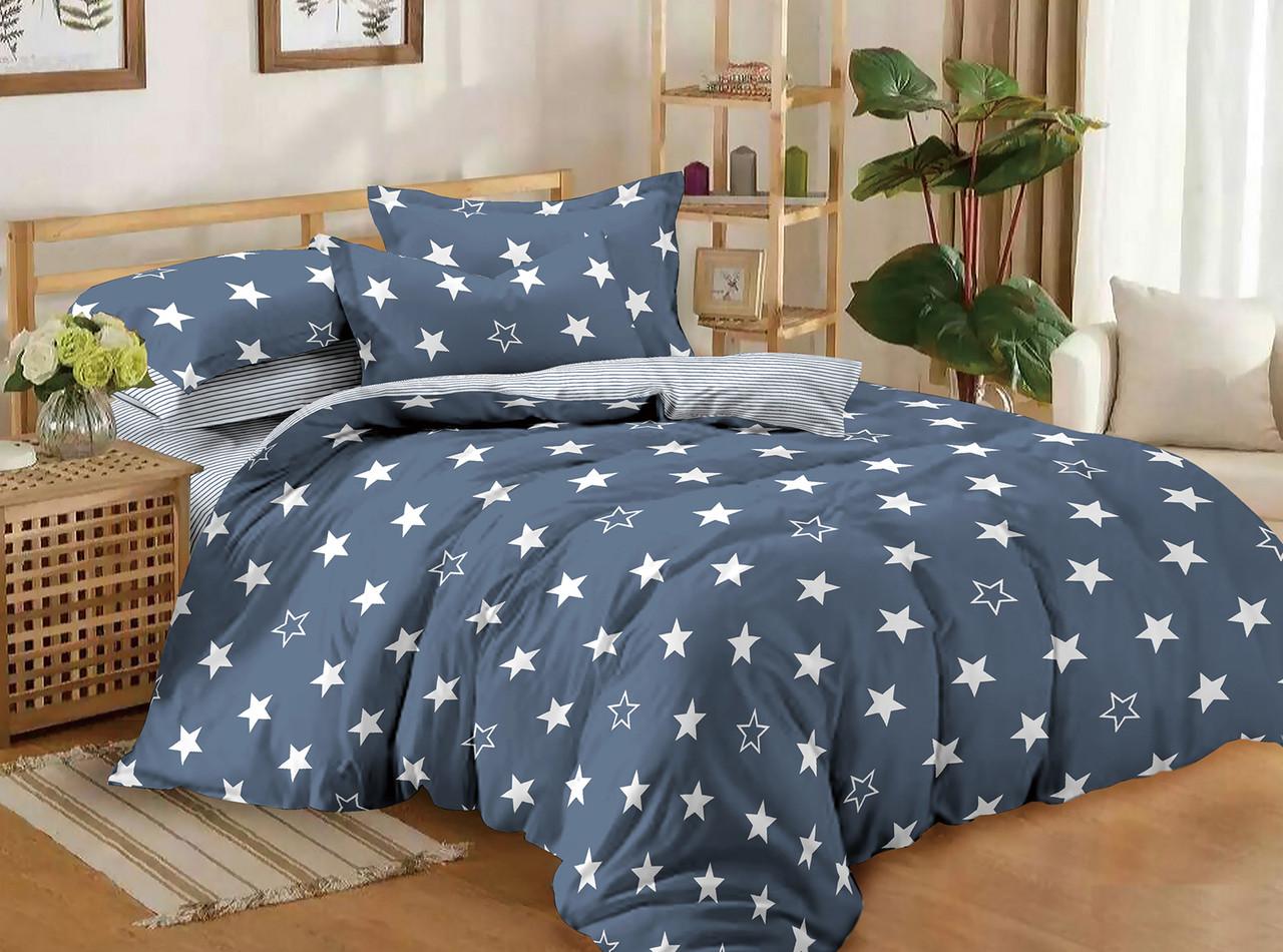 Двуспальный комплект постельного белья евро 200*220 сатин (11195) TM КРИСПОЛ Украина