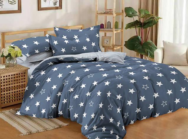 Двуспальный комплект постельного белья евро 200*220 сатин (11195) TM КРИСПОЛ Украина, фото 2