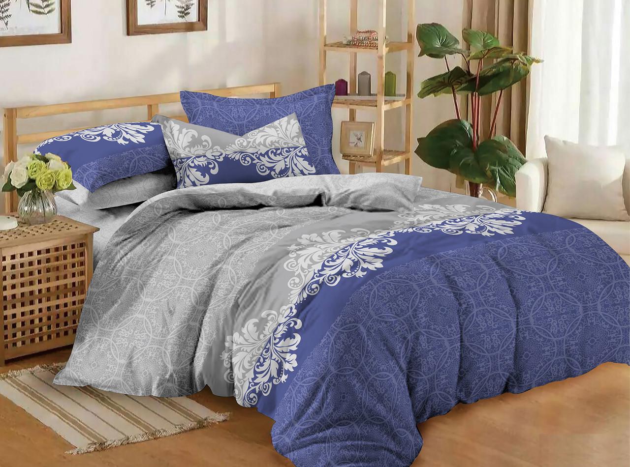 Двуспальный комплект постельного белья евро 200*220 сатин (11196) TM КРИСПОЛ Украина
