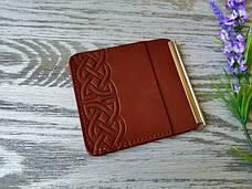 Зажим для денег светло-коричневый кельтский узел, фото 2