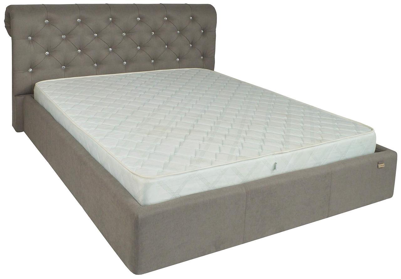 """Кровать Лондон (с пуговицами) (комплектация """"Комфорт"""") с подъем.мех."""