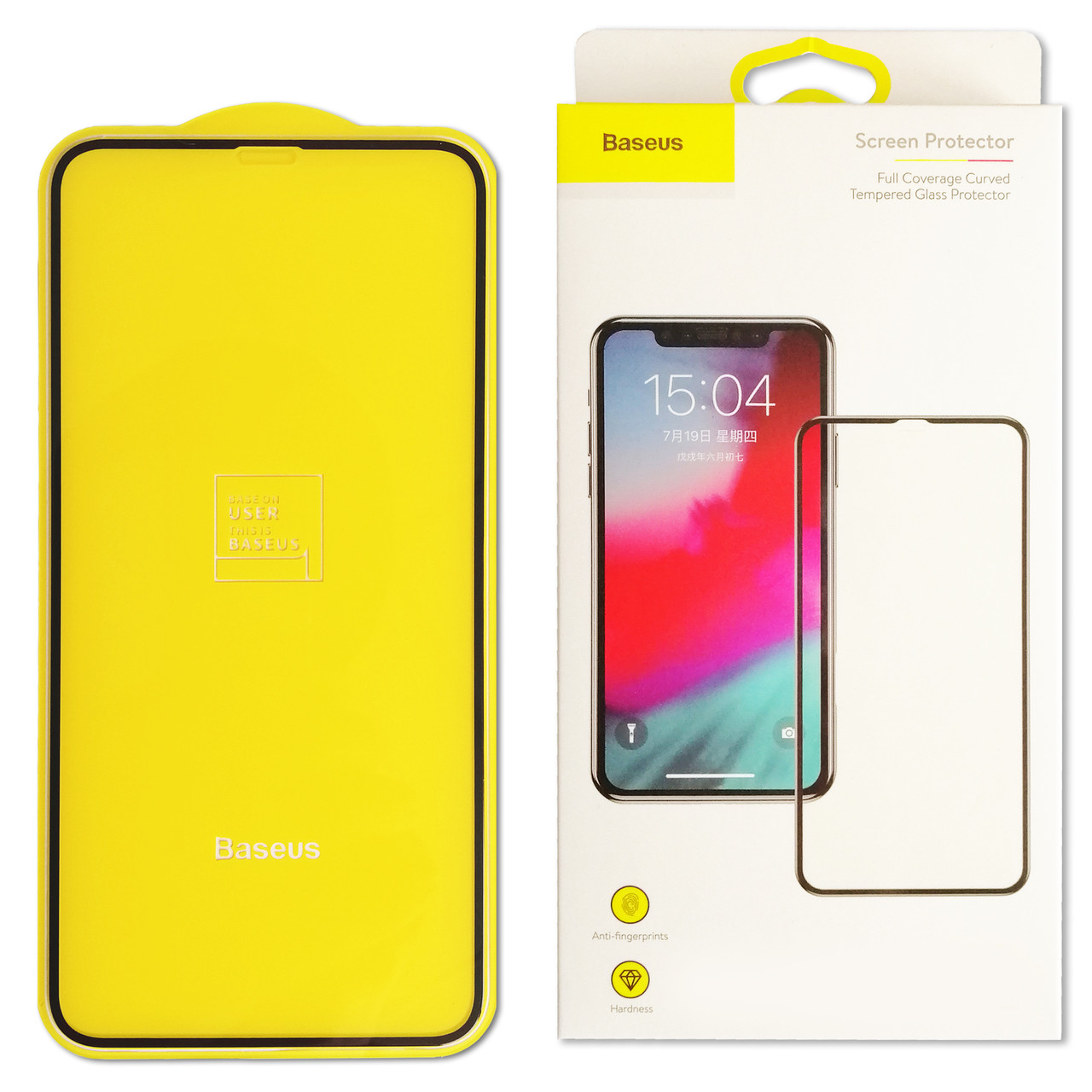 Baseus 0,2mm Silk-screen Tempered Glass Film For iPhone XR Black
