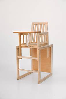 Детский стульчик для кормления Малютка, натуральный
