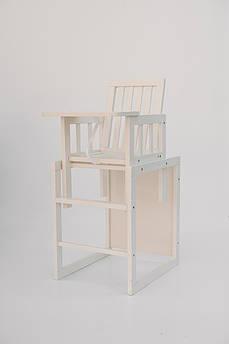 Детский стульчик для кормления Малютка, ваниль