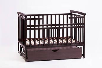 Детская кроватка-трансформер Лодочка с ящиком, орех