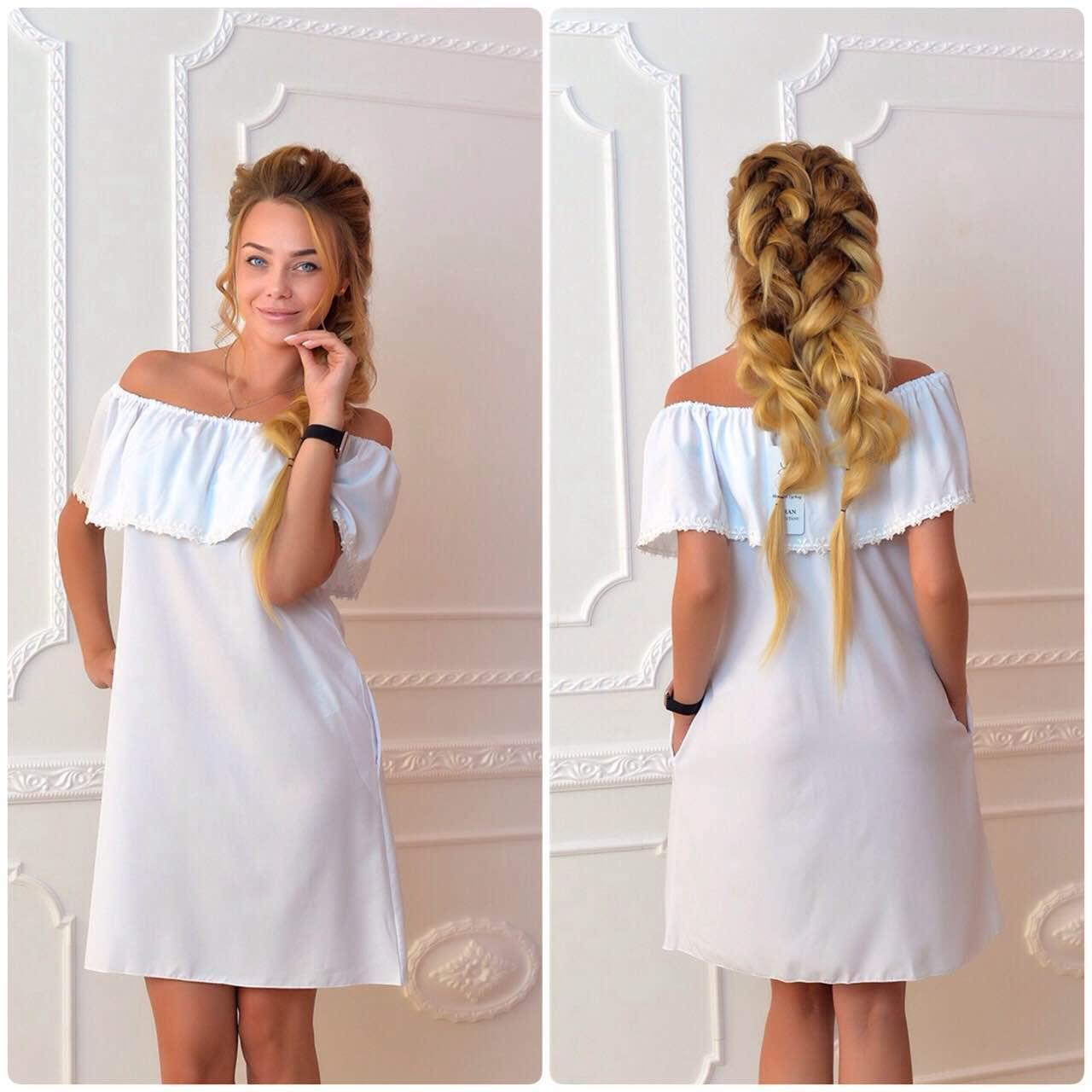 Платье 786 белое