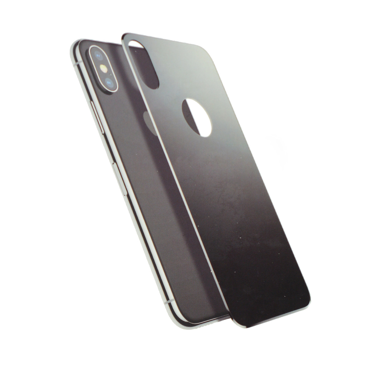 Baseus 4D Arc Back Glass Film For iPhone X silver