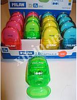 Точилка с контейнером + ластик Look зеленый